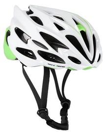 Шлем Nils Extreme MTW58, белый/зеленый, 600 - 620 мм