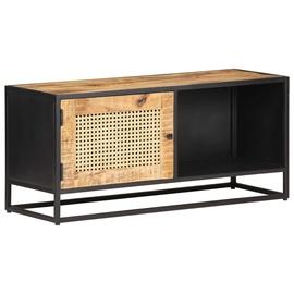 TV-laud VLX Rough Mango Wood 323144, must/hele pruun, 300 mm x 900 mm x 400 mm