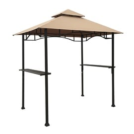 Home4you BBQ Garden Gazebo 240x150cm Beige/Dark Brown