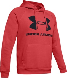 Under Armour Rival Fleece Logo Hoodie 1345628-646 Red M