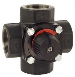 LK Armatur KVS-40 Cast Iron 4-way Valve 2""