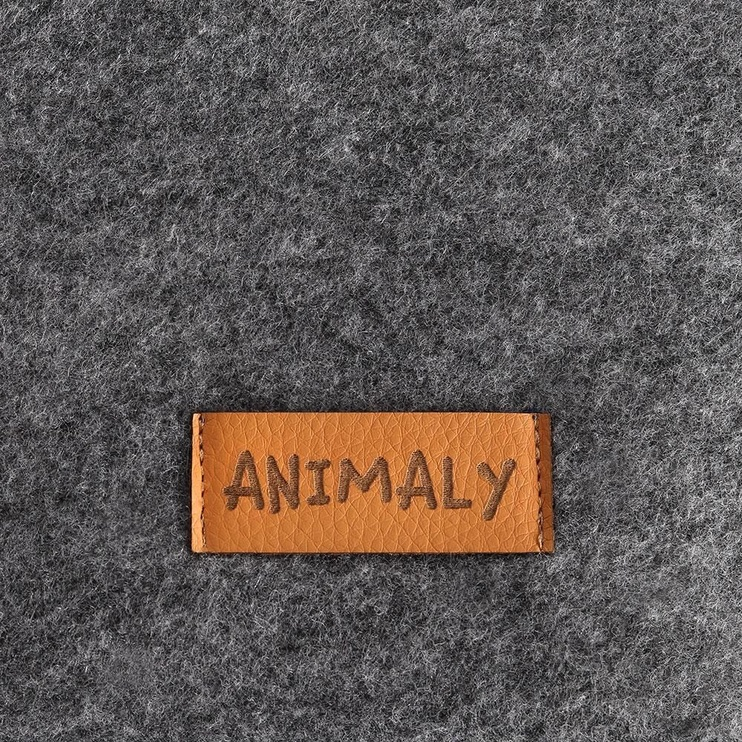 Кровать для животных Myanimaly Simply L, серый, 1000x650 мм