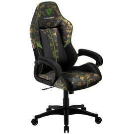 Spēļu krēsls Thunder X3 BC1 CAMO, melna/zaļa