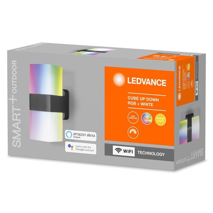 Светильник Ledvance CUBE 4058075478077, 1x16Вт, 3000-6500°К, LED, IP44, серый