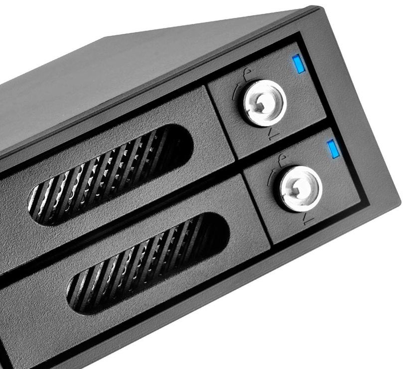 """SilverStone Hot Swap Case RAID 0/1 FSR202 5.25"""" For 2x 2.5"""" HDD/SSD"""