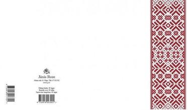 Jānis Roze Notebook A5 JR8 60 Pages Latvian Symbols Belt