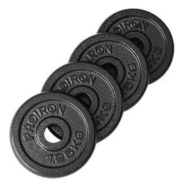 ProIron Solid Cast Iron Weight Plates Set Black 4x1.25kg