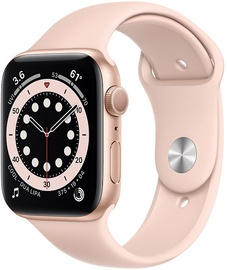 Išmanusis laikrodis Apple Watch Series 6 GPS 44mm Gold Aluminum Pink Sand Sport Band