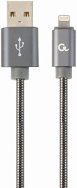 Gembird USB To Lightning Premium Spiral Metal Cable 2m