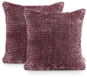 AmeliaHome Bati Pillowcase 45x45 Mauve 2pcs