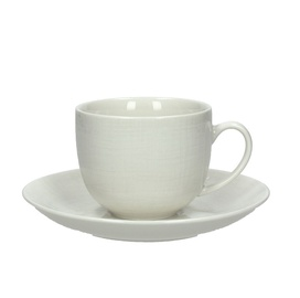 Tognana Victoria Cups And Saucers Set White 6pcs