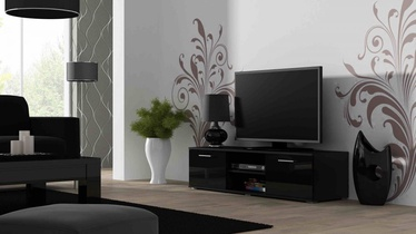 Cama Meble Soho 140 TV Stand Black/Black Gloss