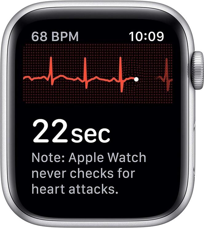 Išmanusis laikrodis Apple Watch Series 5 40mm GPS Silver Aluminium Case with White Sport Band