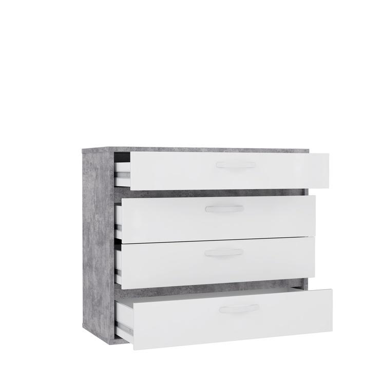 Комод Forte CANMORE, белый/серый, 86.3x41.5x99.5 см