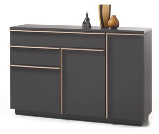 Black Red White Brindisi Chest Of Drawers 40x150x98cm Grey