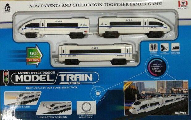 Pareto Centrs Express Train With 3 Wagons & Railway