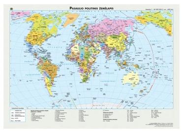 Politinis ir gamtinis pasaulio žemėlapis