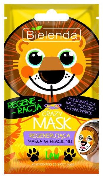 Bielenda Crazy Mask Regenerating Sheet Mask Lion 1pcs