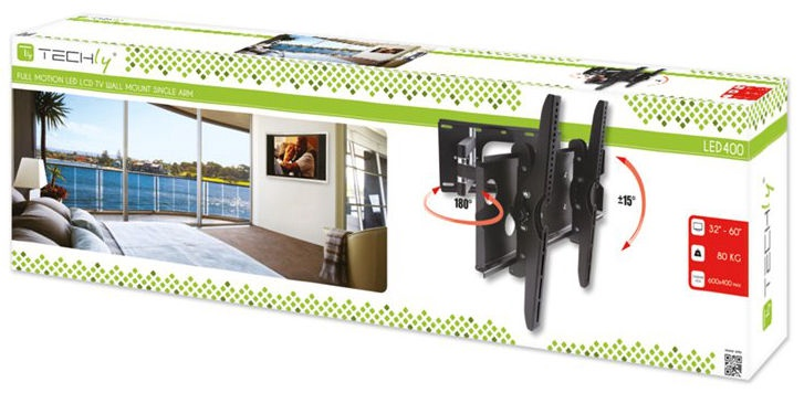 """Techly Wall Mount For TV Adjustable 32-60"""""""