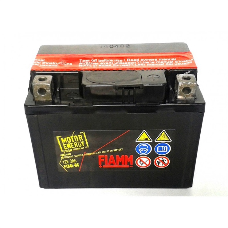 Fiamm Motorcycle Battery FTX4L-BS 3Ah 40A 12V