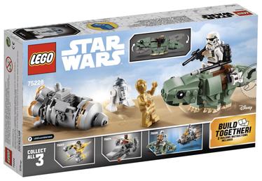Конструктор LEGO Star Wars Escape Pod Vs. Dewback Microfighters 75228 75228, 177 шт.