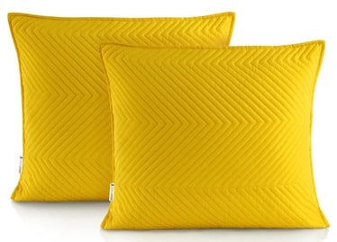 DecoKing Messli Pillowcase Honey Yellow 45x45 2pcs