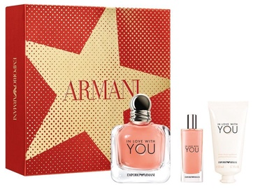 Rinkinys moterims Giorgio Armani Emporio Armani In Love With You 100 ml EDP + 50 ml Hand Cream + 15 ml EDP