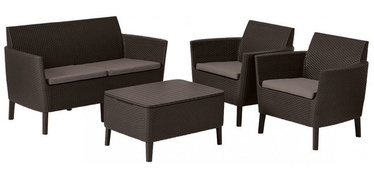 Keter Salemo 2 Seater Lounge Set Brown