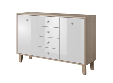 Idzczak Meble Sonata 135 Chest Of Drawers Sonoma Oak/White