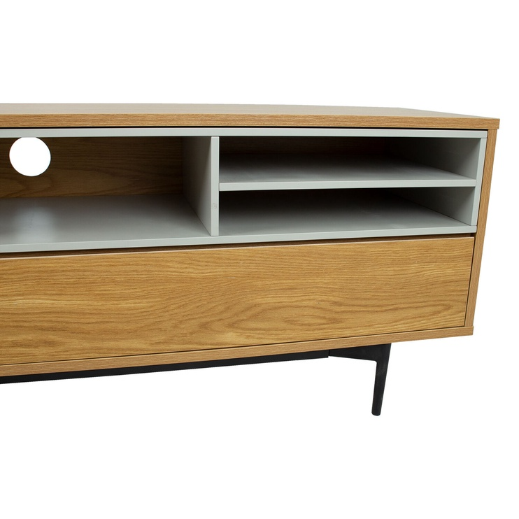 TV galds Home4you Delano, pelēka/ozola, 1520x415x550 mm