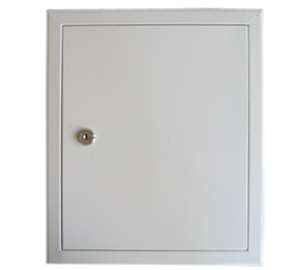 Glori ir Ko Access Panel 150x150 White With Key Lock