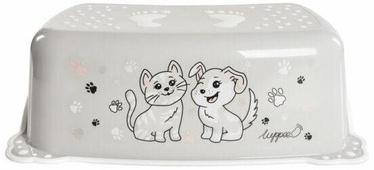 Подставка-ступенька Luppee Cat And Dog, серый