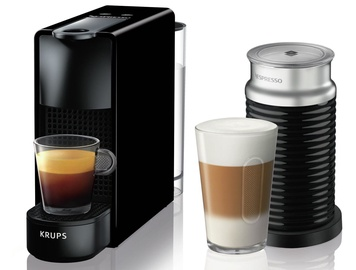 Krups Nespresso Essenza Mini & Aeroccino3 Coffee Machine Black