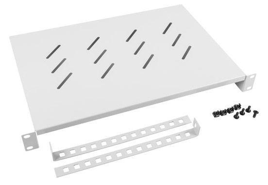Lanberg Fixed Shelf 19'' 483 x 500mm Grey
