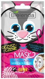 Bielenda Crazy Mask Purifying Sheet Mask Cat 1pcs