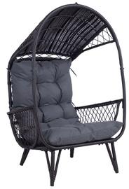 Home4you Tanja Lounge Chair Dark Brown