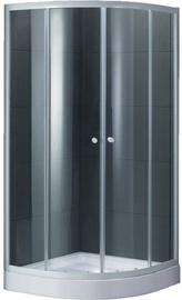 Dušas kabīne ar paliktni k251bw (domoletti)