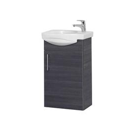 Pakabinama vonios spintelė su praustuvu Riva sa40-18a, pilka