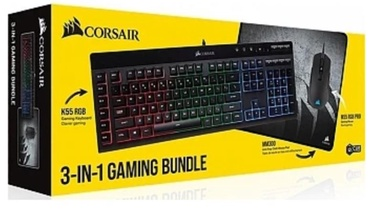 Corsair Gaming Bundle K55 RGB M55 RGB PRO MM3300