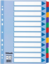 Esselte Separators 1-12 Colorful Without Numbers