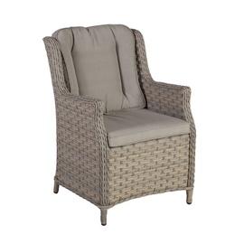 Home4you Pacific Garden Chair w/ Cushion Beige/Grey