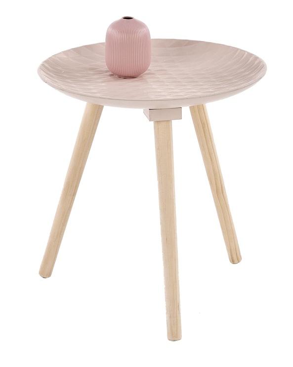 Kavos staliukas Halmar Bingo Light Pink, 400x400x420 mm