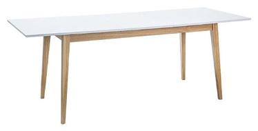 Pusdienu galds Signal Meble Cesar White, 1600x800x750 mm