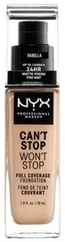 NYX Can't Stop Won't Stop Full Coverage Foundation 30ml Vanilla