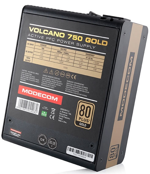 Modecom ATX 2.31 Volcano 750 Gold 750W ZAS-MC90-SM-750-ATX-VOLCANO-GOLD