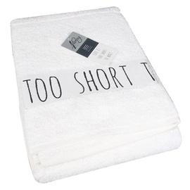 4Living Life's Too Short Towel 70 x 140cm White