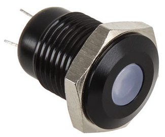 Lamptron Black Push Button LED Orange