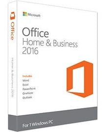 Microsoft Office Home and Business 2016 1-PC Medialess All Languages Activation code Electronic Licence