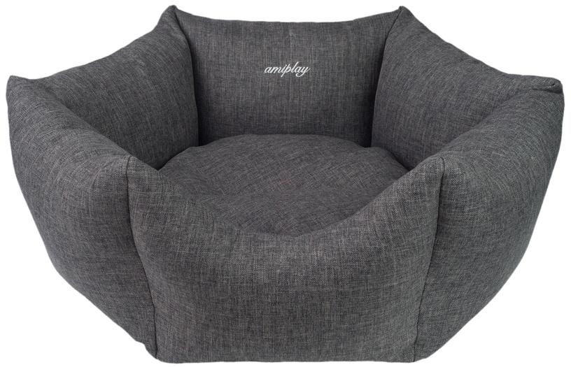 Лежанка Amiplay Palermo Crown Bed L 68x23cm Dark Gray