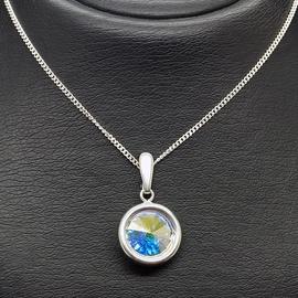 Diamond Sky Pendant Clarice Aurore Boreale With Crystals From Swarovski